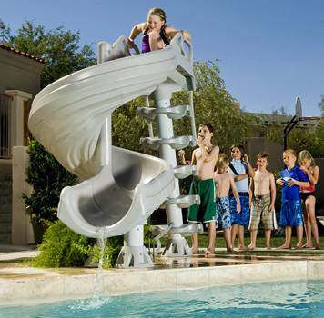 G Force pool slide Swimming Pool Slides For Inground Pools